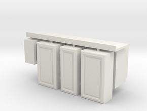 1:24 Kitchen Cabinet Kit in White Strong & Flexible