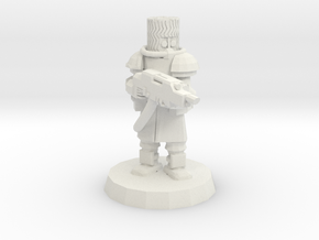 Cossack Trooper with Inferno Riffle in White Strong & Flexible
