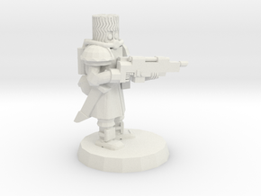 Space Cossack Trooper in White Strong & Flexible