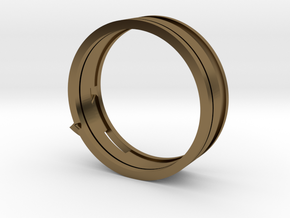 Christian Navigator Ring 4 in Polished Bronze