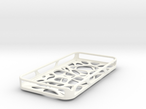 iPhone 4 / 4s case - Cell 2 -Customized in White Strong & Flexible Polished