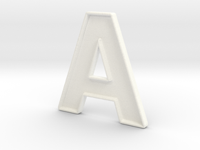 A, Typeface in White Strong & Flexible Polished