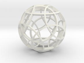 Rhombicosidodecahedron (narrow) in White Strong & Flexible