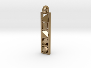 platonic solids pendant in Polished Gold Steel