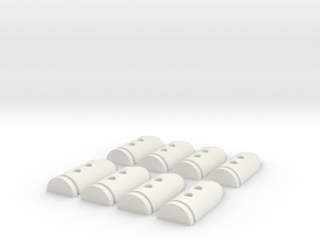 Bullet Buttons #3 in White Strong & Flexible
