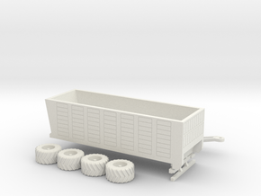 1:160/N-Scale Silage Trailer in White Strong & Flexible