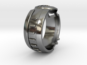 Visor Ring 10 in Polished Silver