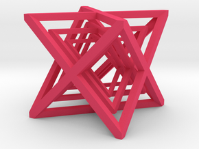 xCubes Nested (3 Inside Each Other) in Pink Strong & Flexible Polished