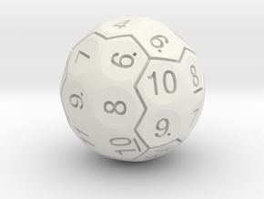 D36 Boardered Standard Numbers in White Strong & Flexible