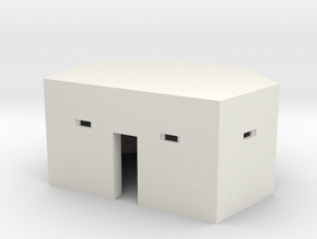 Type 24 Pillbox 4mm scale in White Strong & Flexible