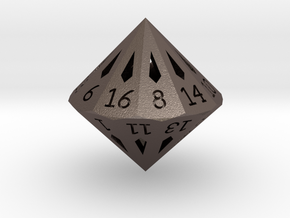 22 Sided Die - Small in Stainless Steel