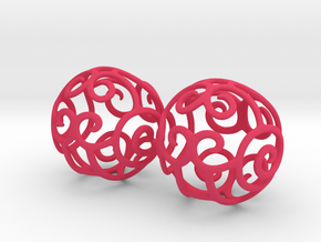 Filigree Sphere EARRINGS  in Pink Strong & Flexible Polished