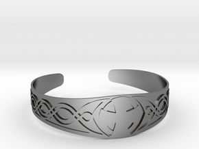 Bracelet Croix Celtique in Polished Silver
