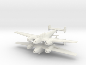 1/200th Messerschmitt Bf 110 (Two planes) in White Strong & Flexible