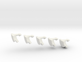 deeper cut nonagonal domino print 1 (2 of 2) in White Strong & Flexible