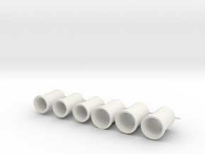 rioolbuis 1000 en 1250 mm, schaal 1:87 in White Strong & Flexible