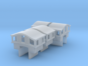 A28 N 'Bombay' roof caboose cupola, MT, int x4 in Frosted Ultra Detail