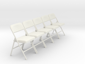1:24 SCALE Folding Chairs (NOT FULL SIZE) in White Strong & Flexible