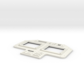 AH 6 Glass Cockpit Fascia 1 in White Strong & Flexible