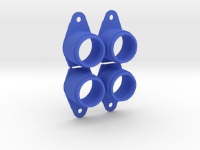 Pinball Button Housing (Cut-Off) #B-21018 (4 qty)  in Blue Strong & Flexible Polished
