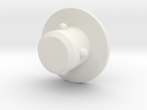 acc stl   M6 COVER PLUG 1 in White Strong & Flexible