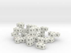 Lock Ness cube puzzle in White Strong & Flexible
