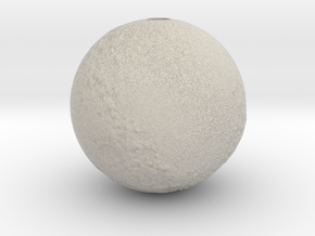 Moon with surface detail in Sandstone