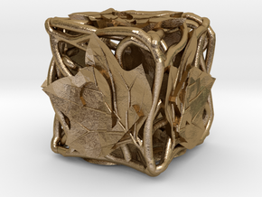 Botanical Die6 (Tulip Tree) in Polished Gold Steel