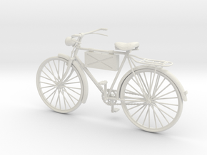 1:18 German WW2 Scout Bicycle in White Strong & Flexible