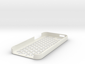 iPhone 5 Honey Comb Plug Case in White Strong & Flexible