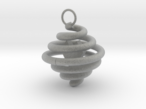 Spiral Pendant by Ben Hart in Metallic Plastic