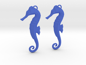 Seahorse Earring  in Blue Strong & Flexible Polished