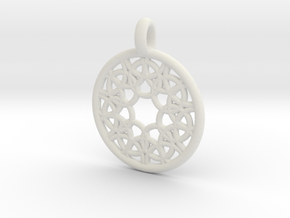Elara pendant in White Strong & Flexible