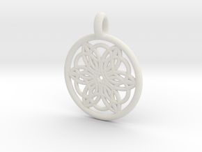 Pasiphae pendant in White Strong & Flexible