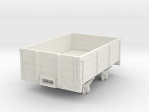 5.5n3 8ft 3 plank dropside wagon in White Strong & Flexible