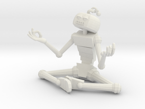 Serene Robot in White Strong & Flexible