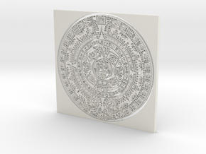 Mayan Calender in White Strong & Flexible
