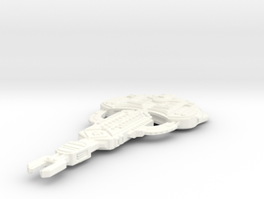 Cardassian Turon Class (Larger) in White Strong & Flexible Polished