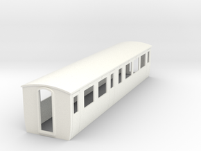OO9 Modern composite coach  in White Strong & Flexible Polished