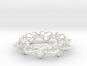 Heart Chain 60 in White Strong & Flexible