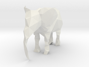 Polygon Elephant in White Strong & Flexible