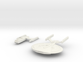 Archer Class Battleship In 2 parts in White Strong & Flexible