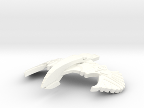 Romulan Star Hawk in White Strong & Flexible Polished