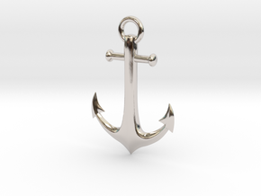 Anchor Necklace in Platinum