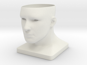 Human Face Planter V2 - H100MM in White Strong & Flexible