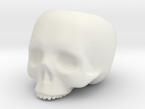 Skull Pot V3 - H100MM in White Strong & Flexible