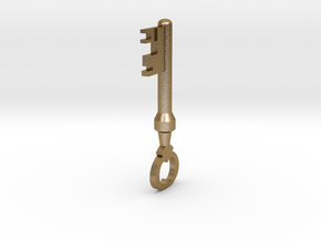 TF2 Mann Co. Supply Crate Key (Small) in Polished Gold Steel