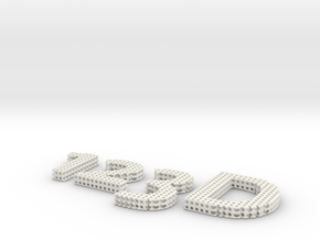 Autodesk 123d Logo in White Strong & Flexible