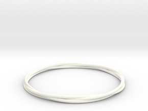 Three loops bangle in White Strong & Flexible Polished