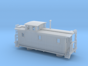 DMIR K1 Steelside Early Caboose - Zscale in Frosted Ultra Detail